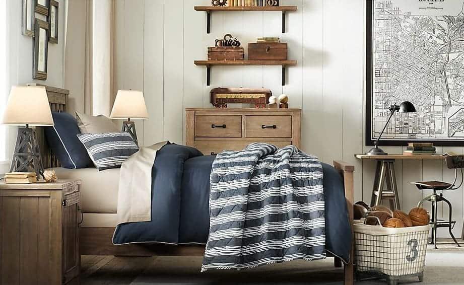 rustic industrial boy bedroom design