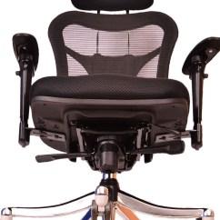 High Back Office Chairs With Lumbar Support Nico Swivel Chair Ergonomic Mesh | Nina Interiors
