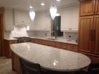 My Kitchen Re-Do! Quartz Backsplash | nina in the kitchen