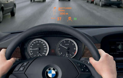 BMW Head Up Display HUD Design