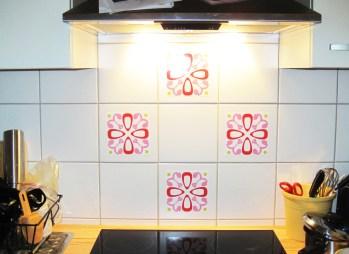 Küche mit Wandsticker