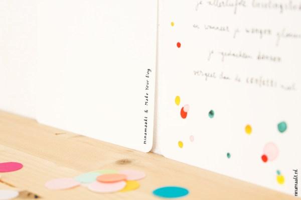 ninamaakt postcard confetti fill your heart