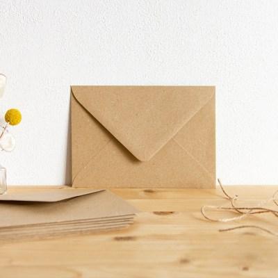 envelop voor A6-kaart kraftpapier