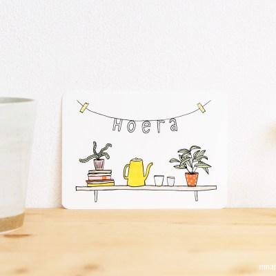 ninamaakt postcard - hoera