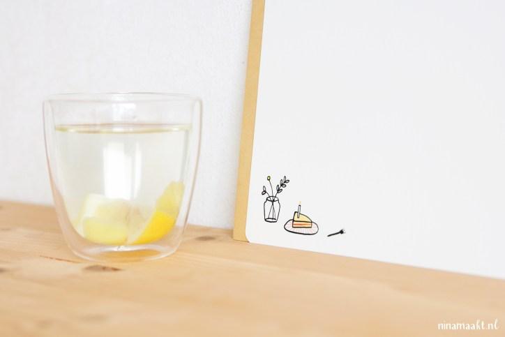 ninamaakt card miniposter - tijd voor thee