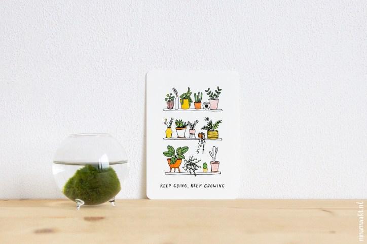 ninamaakt postcard - keep growing
