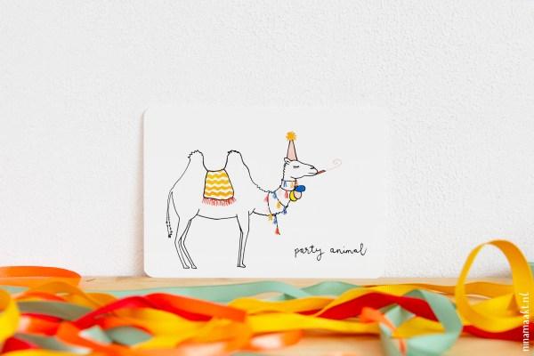 ninamaakt kaart party animal