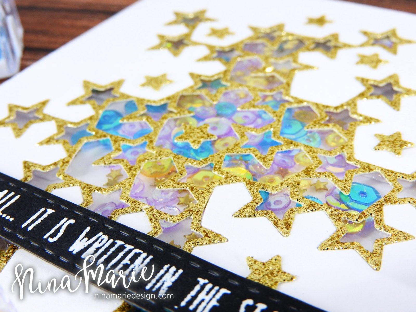 Glitter Die Cut Shaker + Simon's Among the Stars Release_2