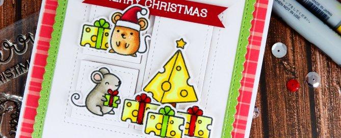 Light Up Card + Simon's Merry Christmouse Set Nina-Marie Design