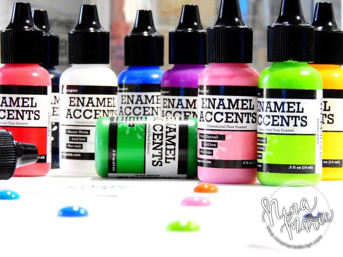Craft Room Organization Nuvo Drops Enamel Accents | Nina-Marie Design