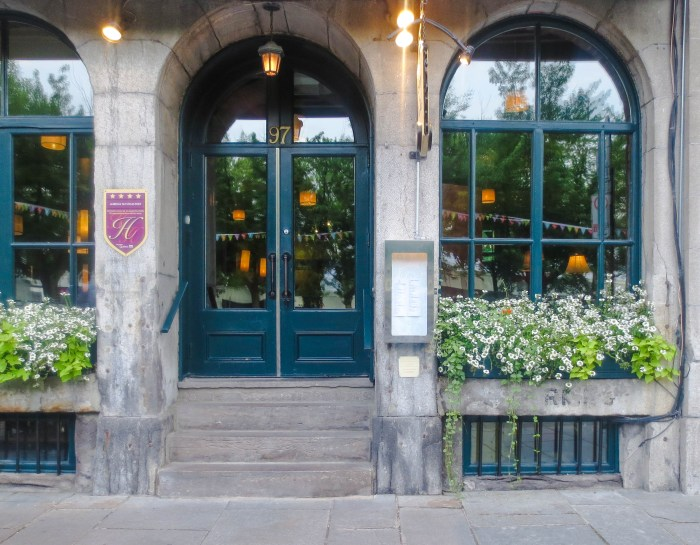 Staying at Auberge du Vieux Port in Old Montreal