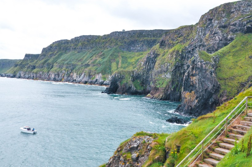 carrick-a-rede coastline in northern ireland