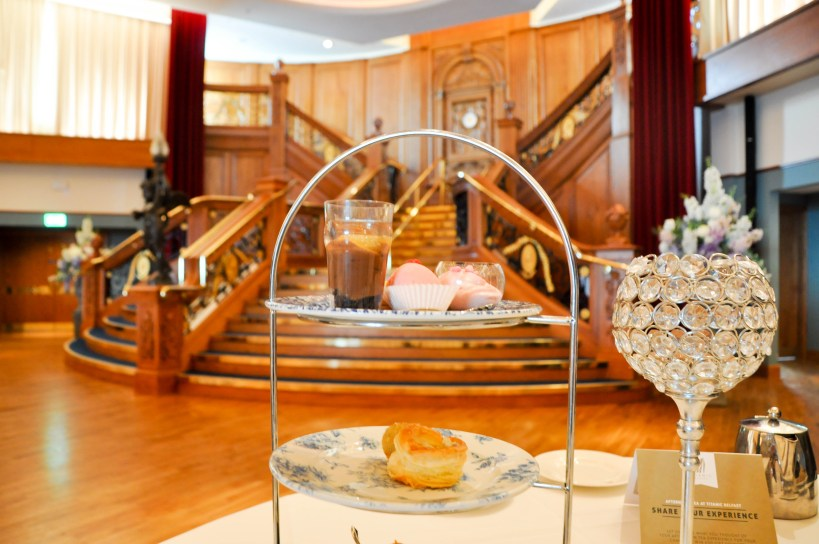 food at tea on the titanic