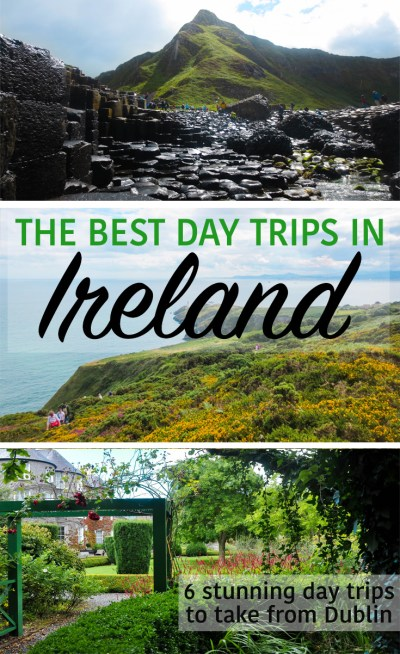 Day Trips from Dublin Ireland pin