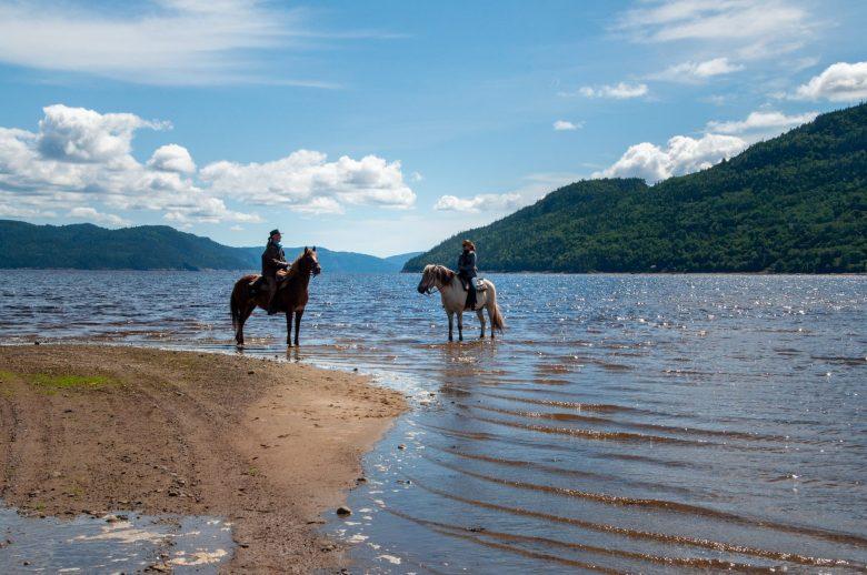 Horseback riding in L'Anse-Saint-Jean