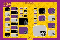 Black Panther Back to School Stickers/ Labels From Nina Prints