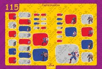 Captain America 2 Back to School Stickers/ Labels From Nina Prints