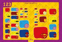 Super Heroes 3 Back to School Stickers/ Labels From Nina Prints