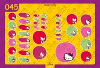 Hello Kitty Back to School Stickers/ Labels From Nina Prints