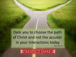 way of the accuser vs Christ