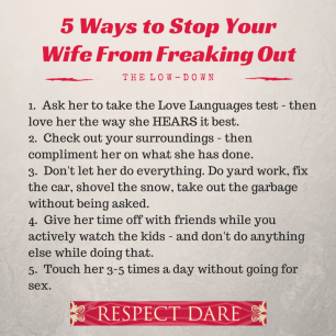 5 Ways to Stop Your Wife From Freaking
