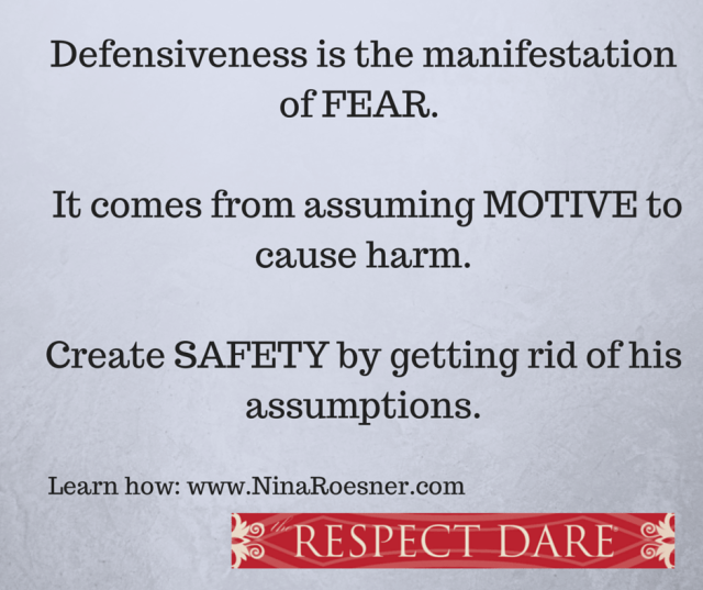 Defensiveness is the manifestation of