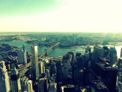 Looking over to Brooklyn from the One World Trade Center.