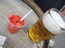 Strawberry punch & beer