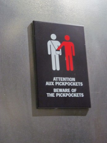Watch for pickpockets in the elevator!