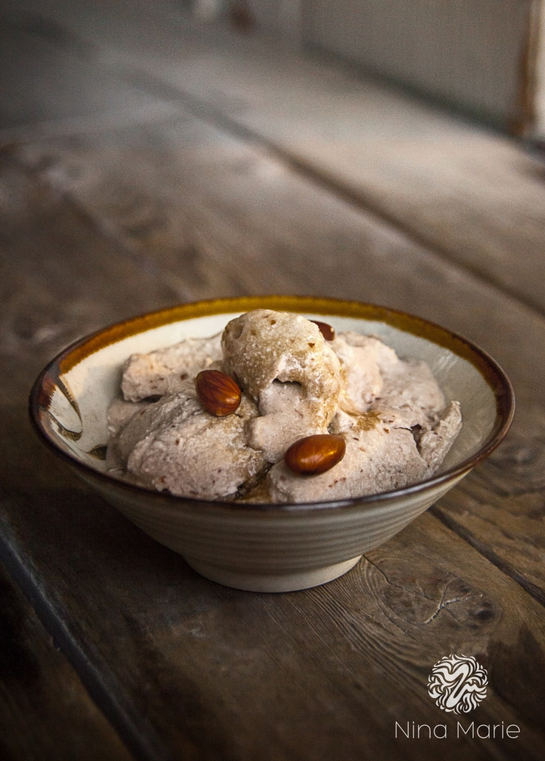Banana Butter Almond Ice Cream