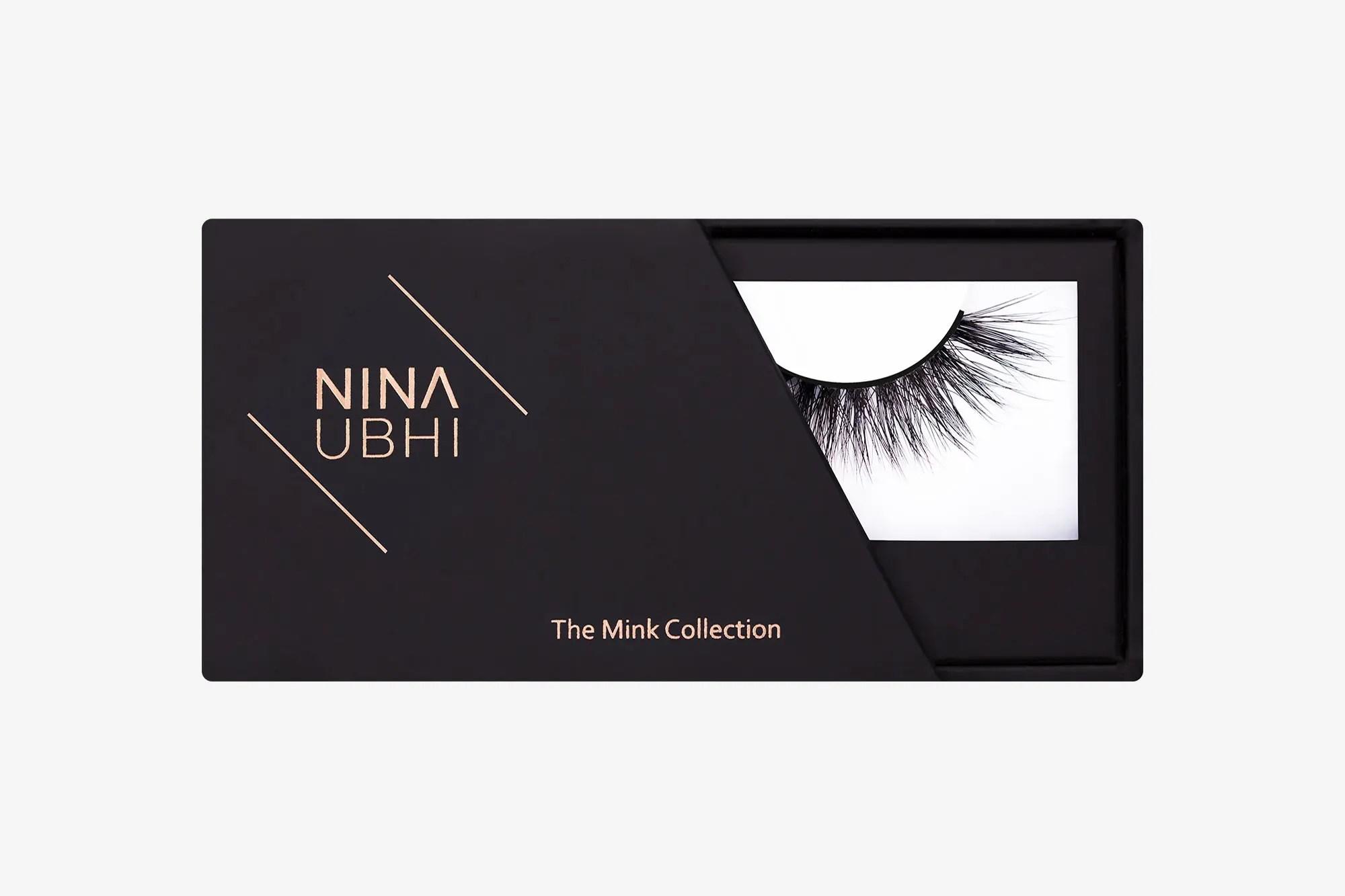 Anya Mink Lashes, false eyelashes in a Nina Ubhi branded box