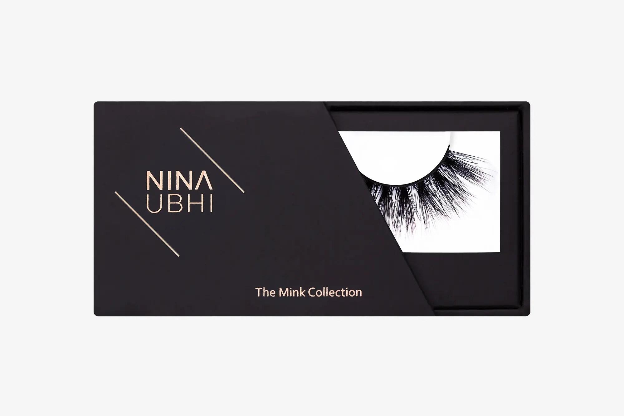 Lola Mink Lashes, false eyelashes in a Nina Ubhi branded box