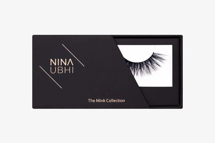 Olivia Mink Lashes, false eyelashes in a Nina Ubhi branded box