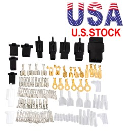 universal motorcycle wiring harness repair electrical bullet plug wire connector [ 1000 x 1000 Pixel ]