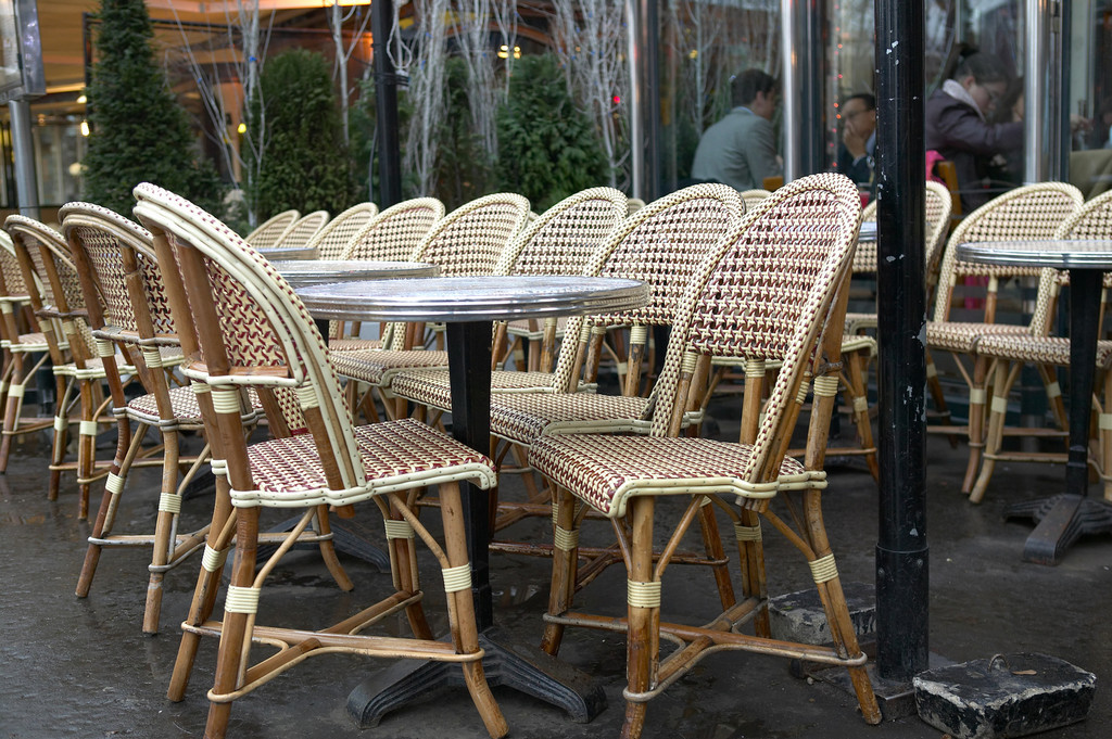 parisian cafe chairs solid wood rocking chair a tribute to cafes french girl in seattle photos by savoye images