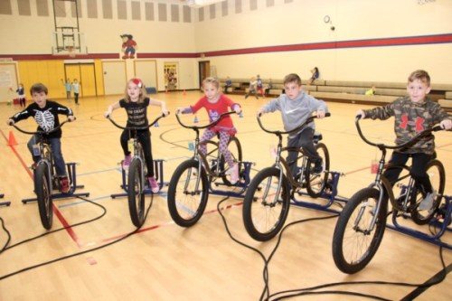 Kids Riding Bikes at Van Buren Elementary School powered by