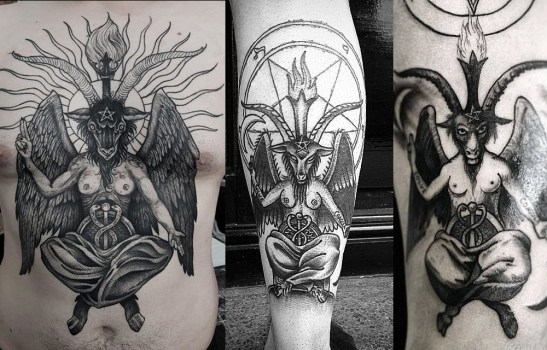 Satanic Tattoo Flash