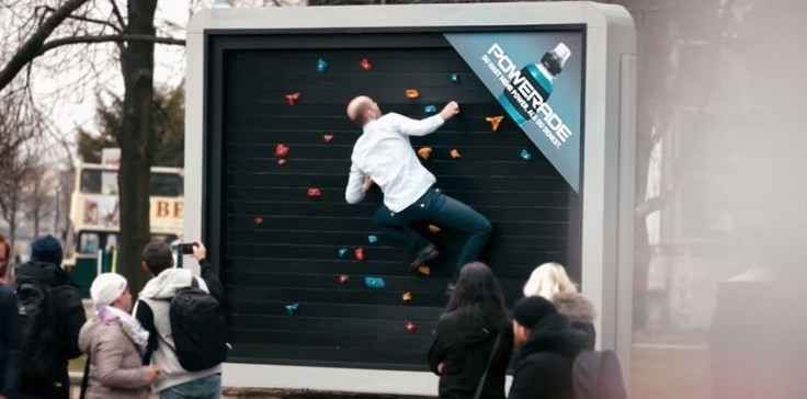 "POWERADE ""Genius Workout Billboards"" giúp ra mồ hôi"