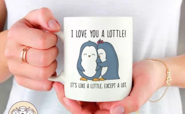 I Love You A Lottle Cute Penguin Mug Christmas Gift For