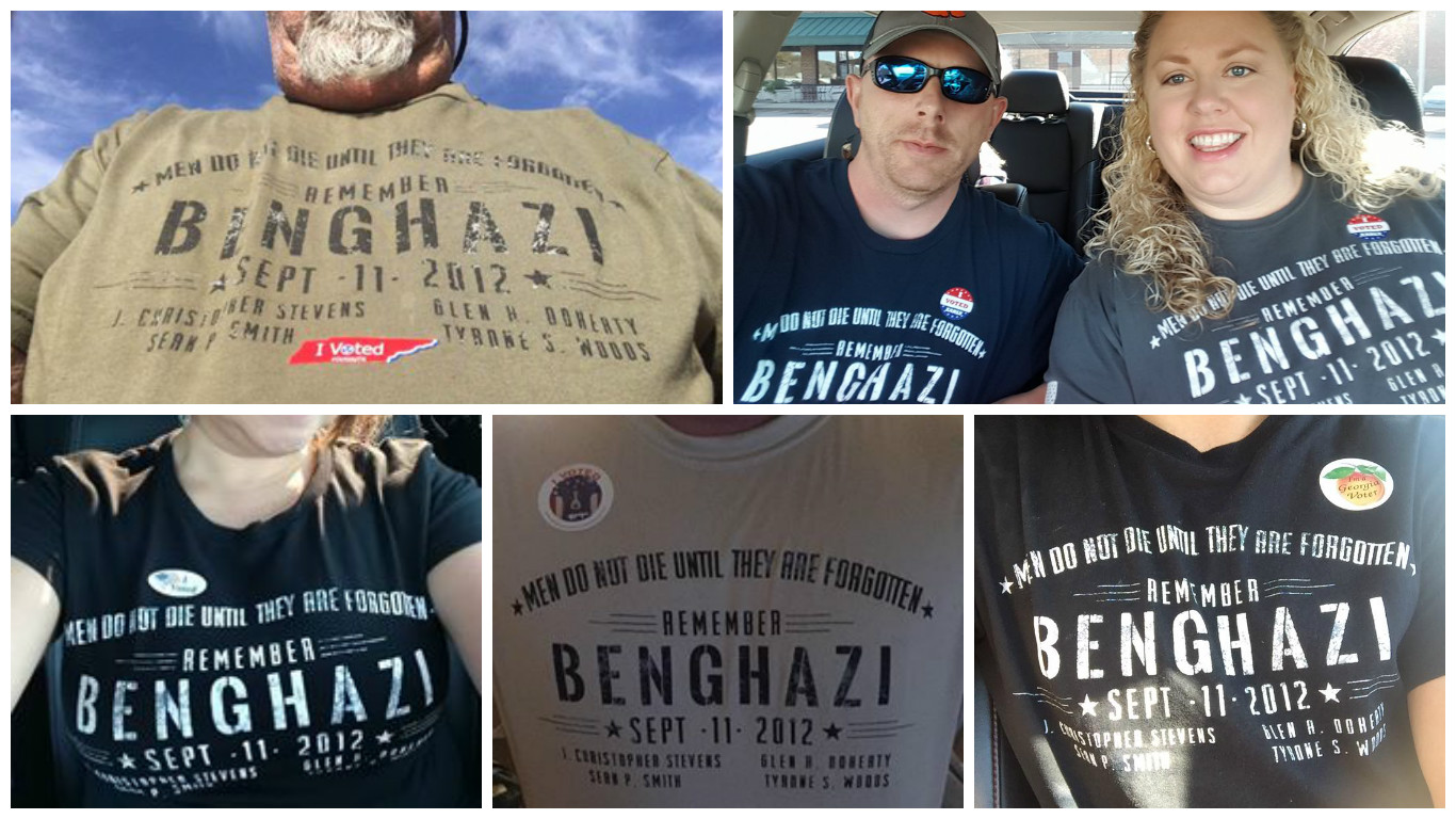 Controversy at the Polls over Benghazi Shirt  Nine Line News