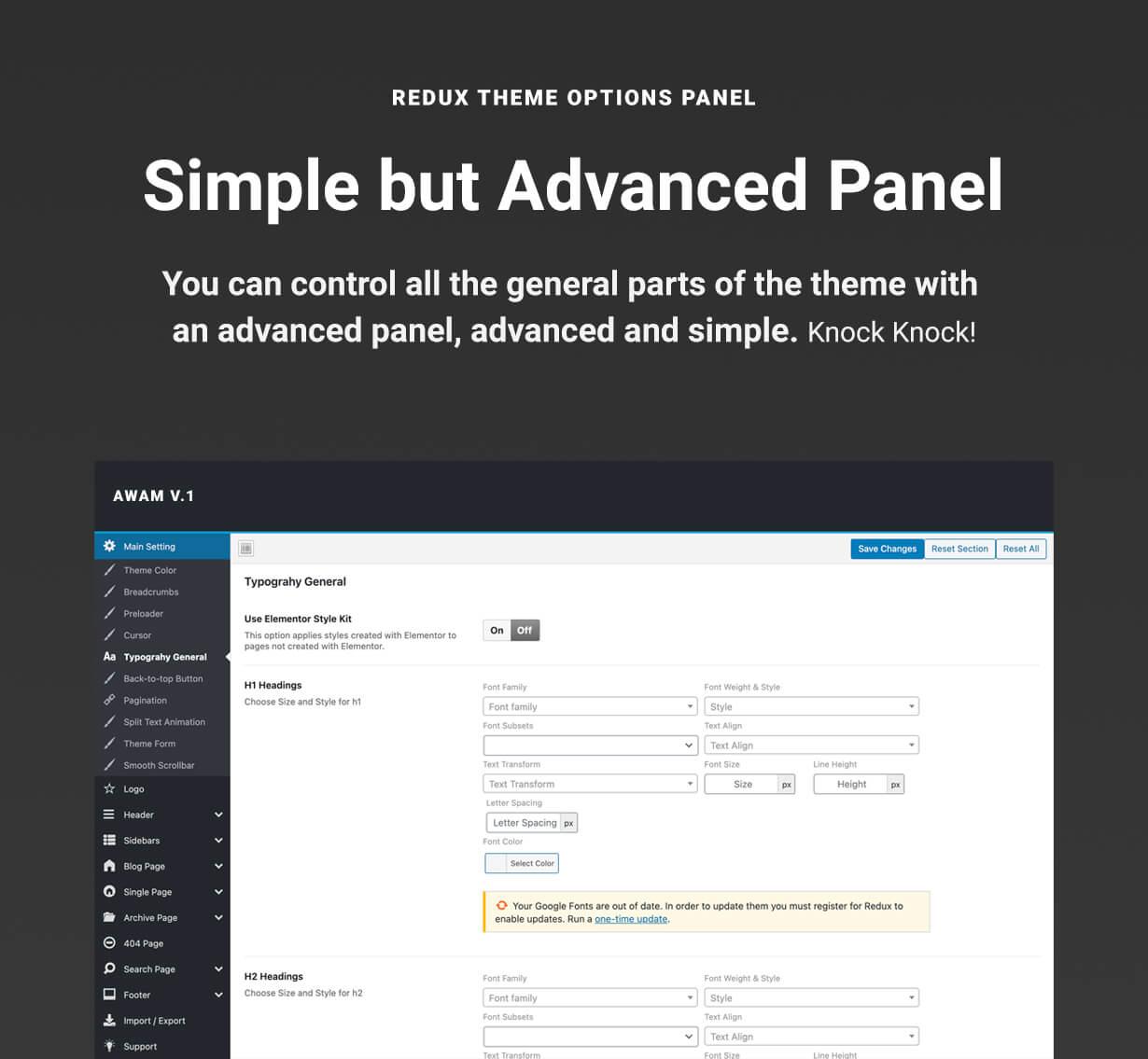 WordPress Redux Theme Option