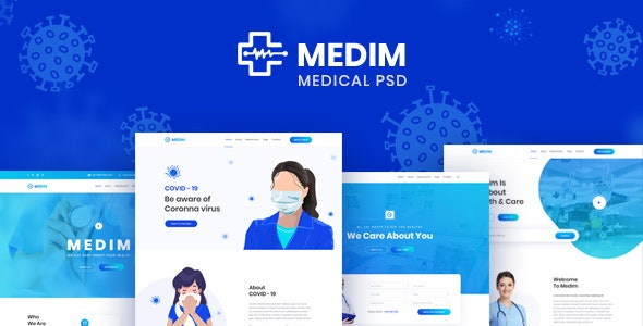 Medim - Coronavirus Medical Prevention and Health PSD Template