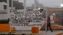 8 enero narcomanta Foto En la mira Las Choapas