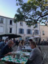 Dinner in the busy square