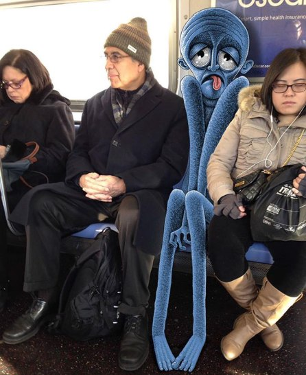 artist-adds-monsters-next-to-strangers-on-the-subway-05