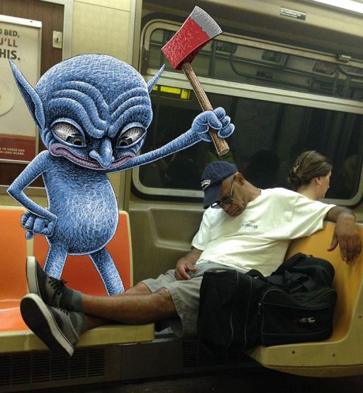 artist-adds-monsters-next-to-strangers-on-the-subway-23