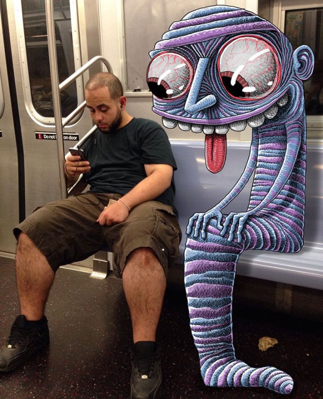 artist-adds-monsters-next-to-strangers-on-the-subway-31