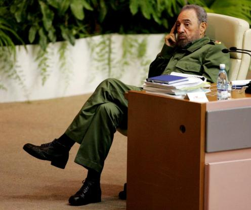 File photo of Cuban President Fidel Castro attending a conference on terrorism in Havana's convention centre