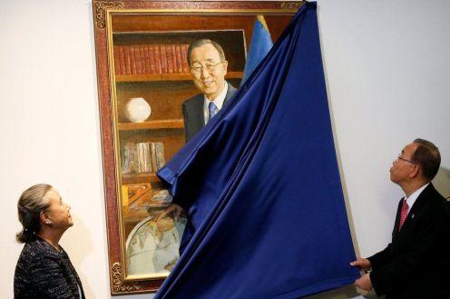 Svelato il ritratto ufficiale di Ban Ki-moon