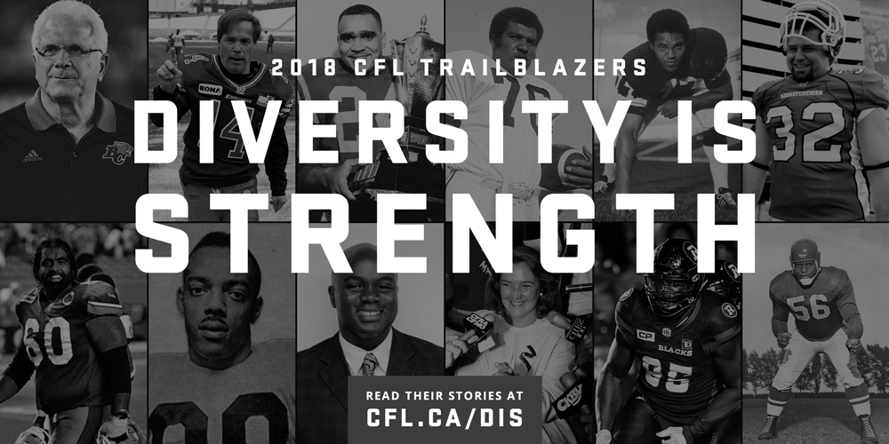 The Diverse Dozen: CFL Diversity is Strength campaign returns for 2018